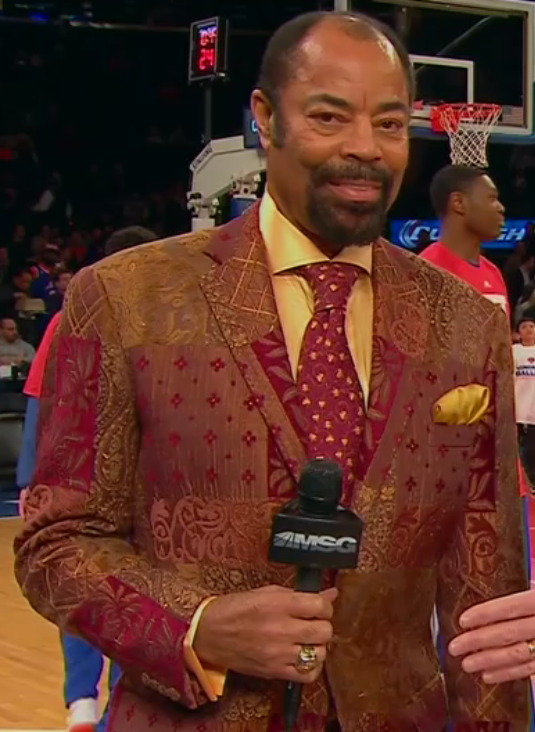 This suit is so fly, even Mike Breen can't keep his hands off of it
