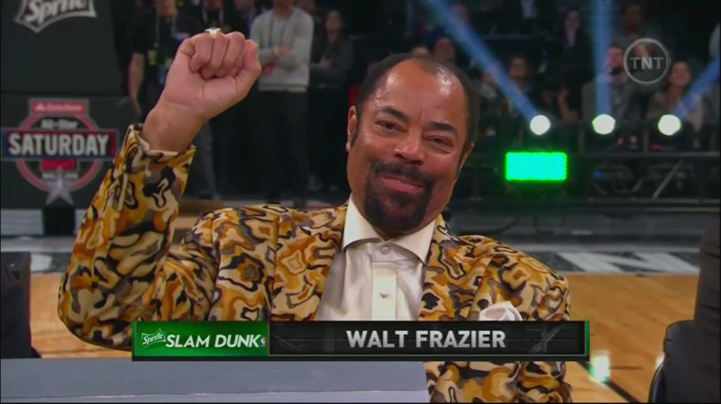 Flyest judge in the history of the dunk contest!